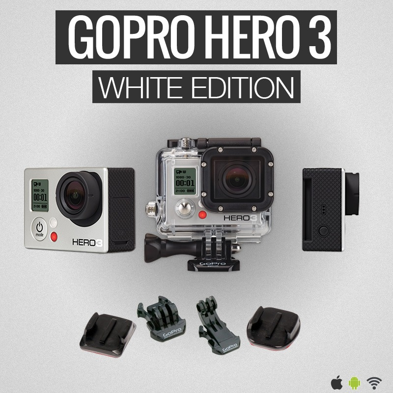 sp cifications gopro hero3 white edition. Black Bedroom Furniture Sets. Home Design Ideas