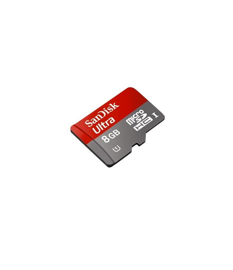Micro SDHC 8Gb class10 + Adaptateur