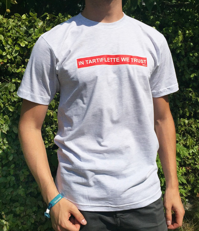 T-shirt In Tartiflette We Trust Ash Grey