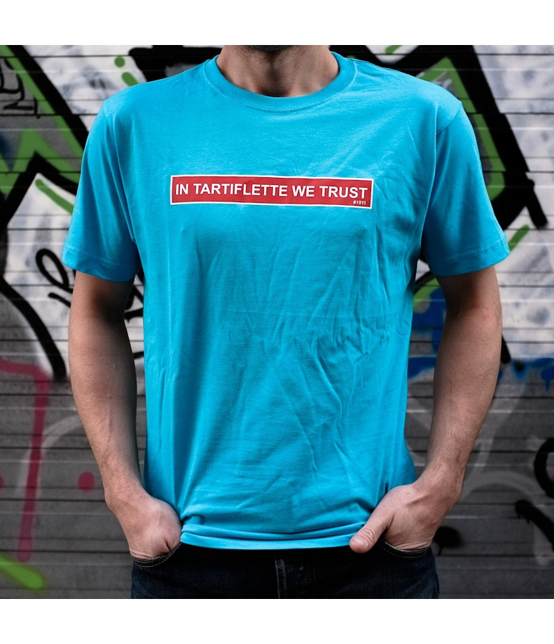 T'shirt In Tartiflette We Trust Turquoise