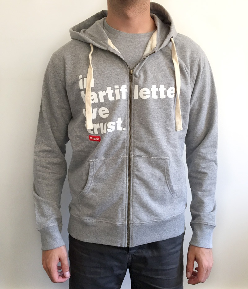 Sweat zipper In Tartiflette We Trust Heather Grey