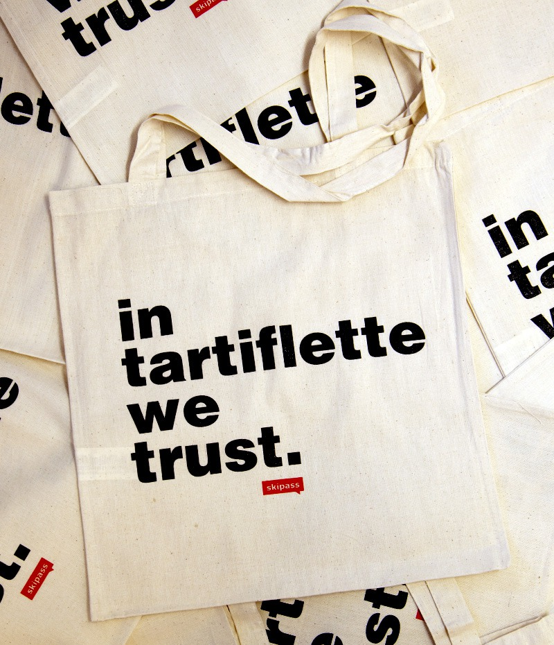 Tote bag in tartiflette we trust