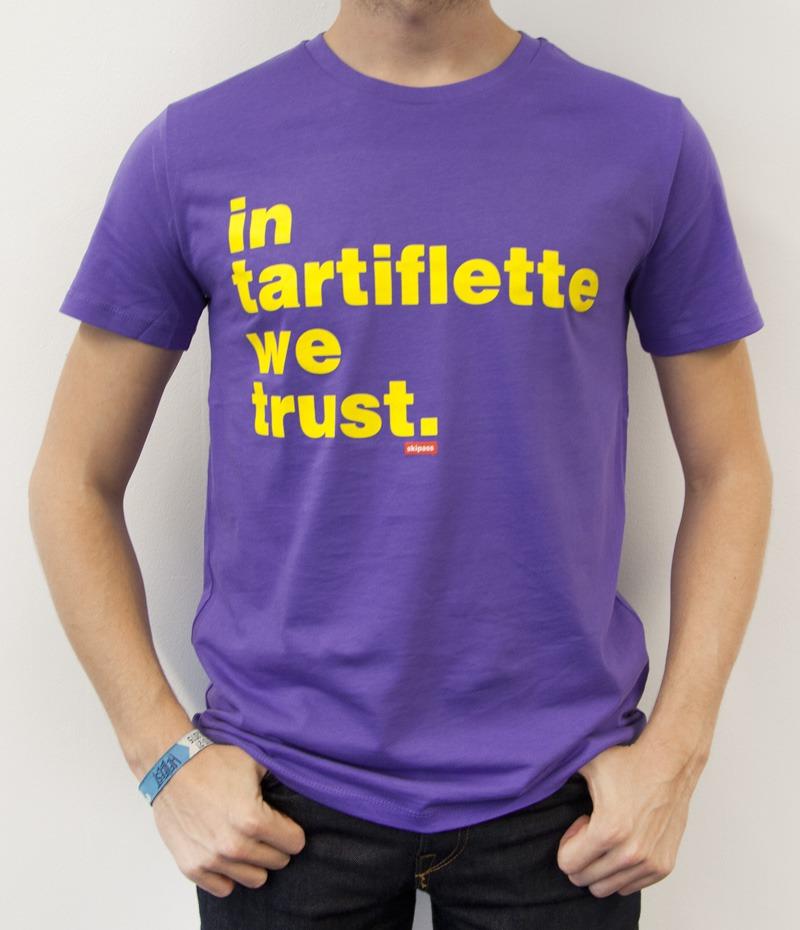Tshirt In Tartiflette We Trust V2 violet homme