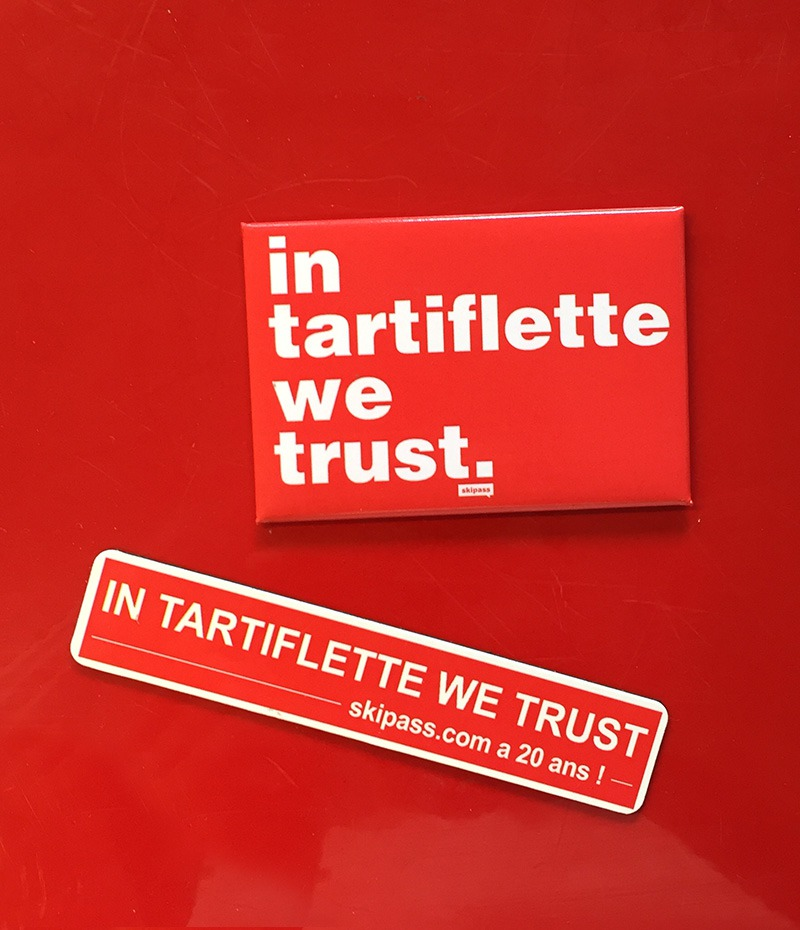 Magnets In Tartiflette We Trust (lot de 2)