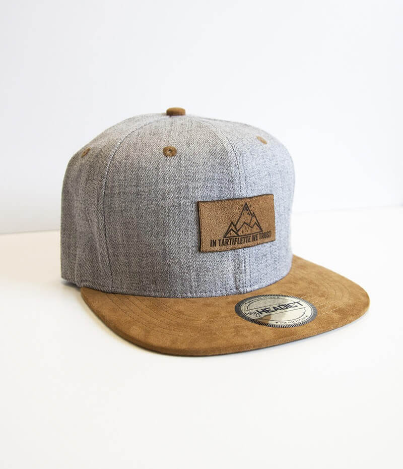 casquette snapback In Tartiflette We Trust heather grey