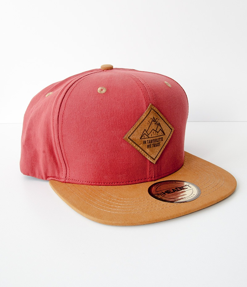 casquette snapback In Tartiflette We Trust burgundy