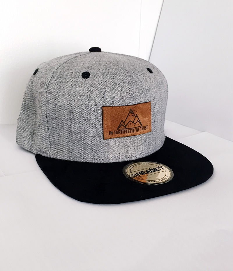 casquette snapback In Tartiflette We Trust heather grey noire