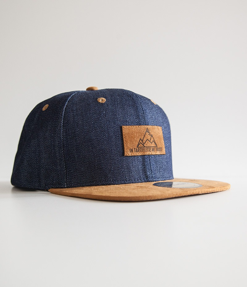 casquette snapback In Tartiflette We Trust denim