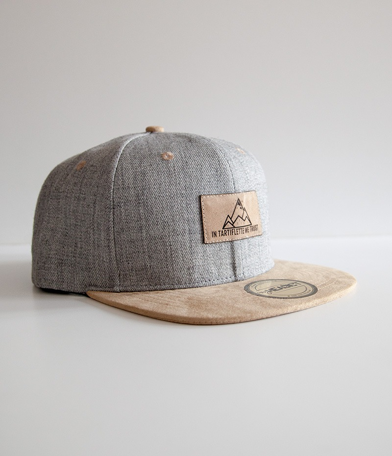 casquette snapback In Tartiflette We Trust heather grey crème