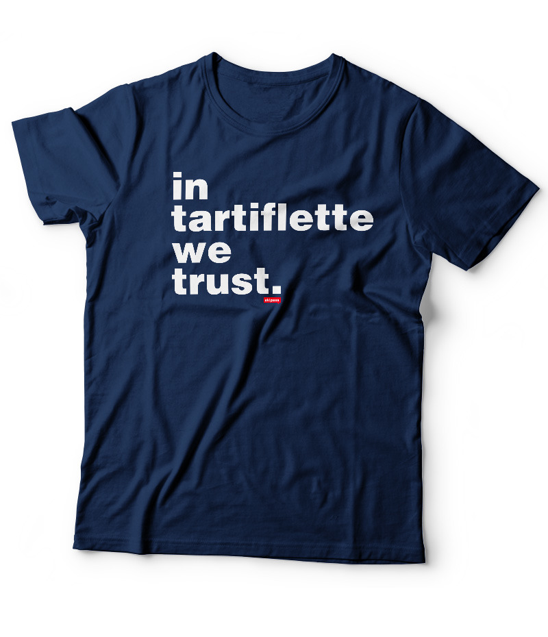 Tshirt In Tartiflette We Trust V2 navy homme