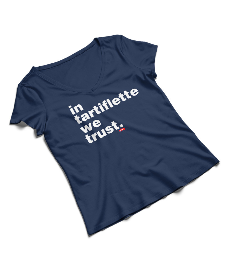 Tshirt In Tartiflette We Trust navy