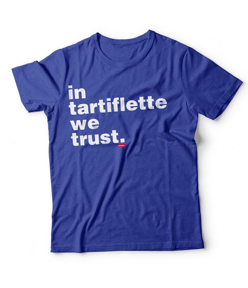 Tshirt In Tartiflette We Trust V2 bleu chiné homme
