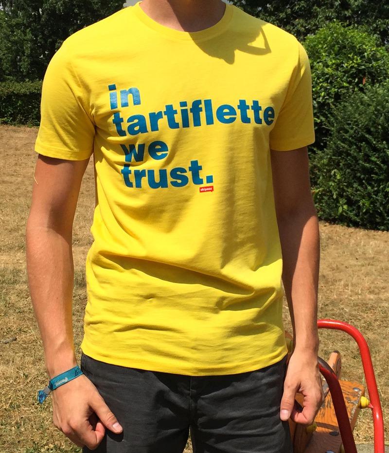 Tshirt In Tartiflette We Trust V2 jaune homme