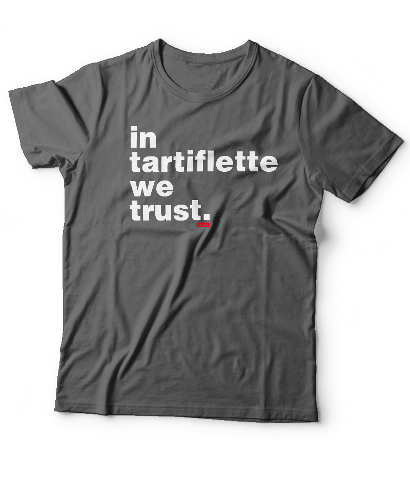 Tshirt In Tartiflette We Trust v2 Anthracite homme