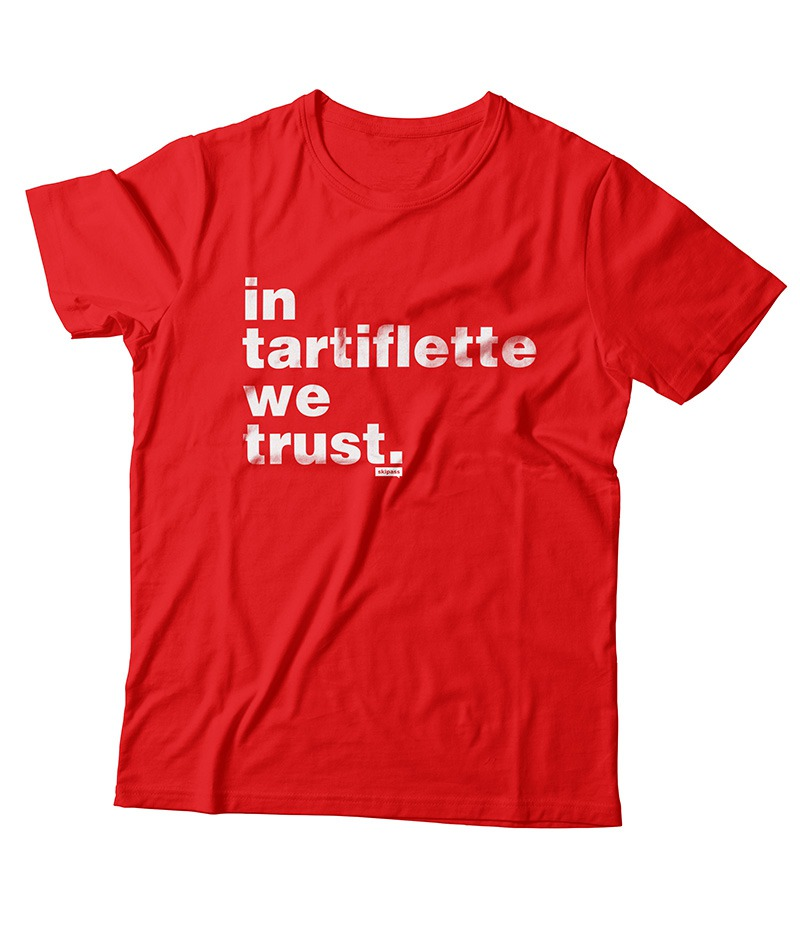 Tshirt In Tartiflette We Trust V2 rouge homme
