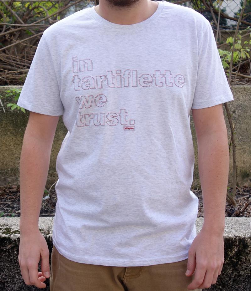 Tshirt In Tartiflette We Trust V2 Anaglyphe Gris chiné