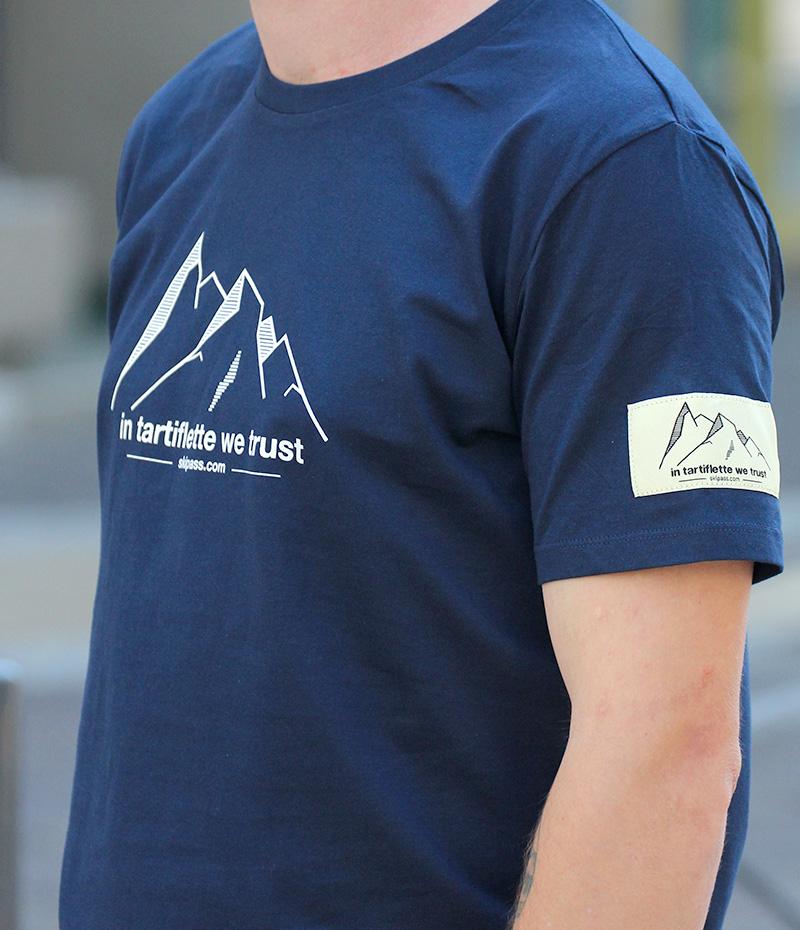 Tissée Étiquette Navy Montagne Shirt T y67fgb