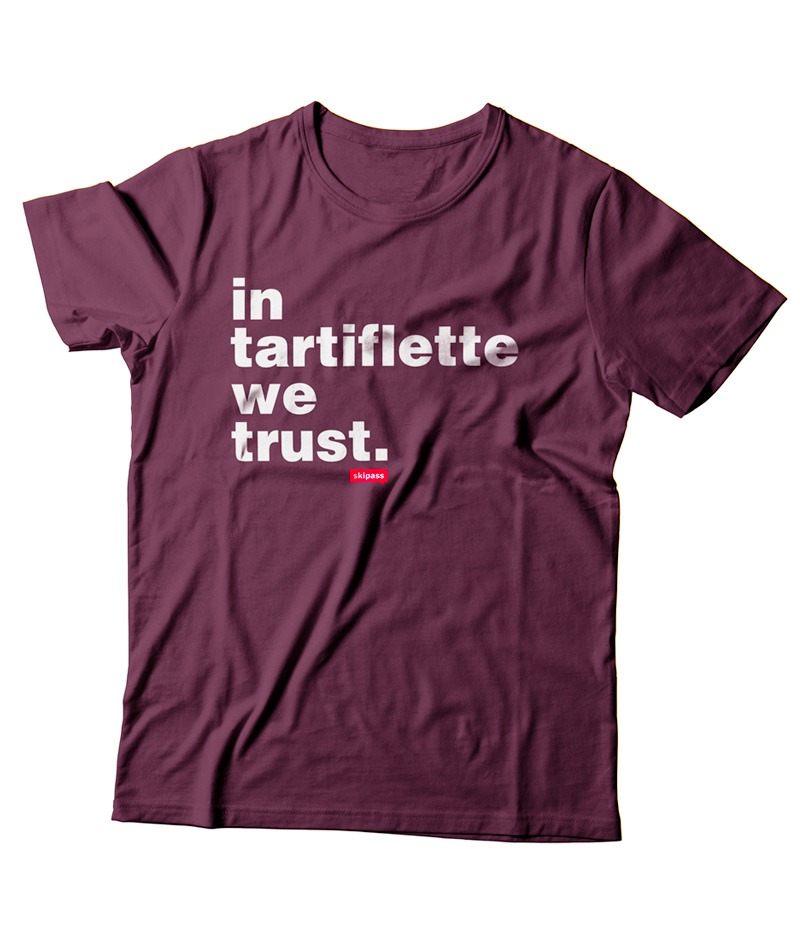 T-shirt In Tartiflette We Trust enfant bordeaux