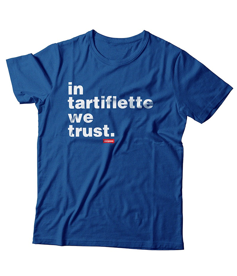 T-shirt In Tartiflette We Trust enfant bleu royal chiné