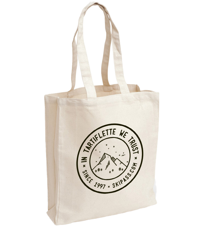 Tote bag In Tartiflette We Trust vintage écru