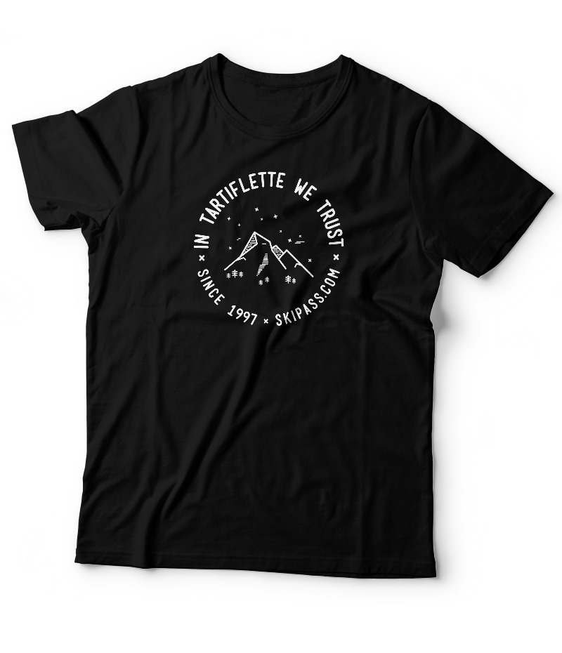 T-shirt In Tartiflette we trust vintage noir