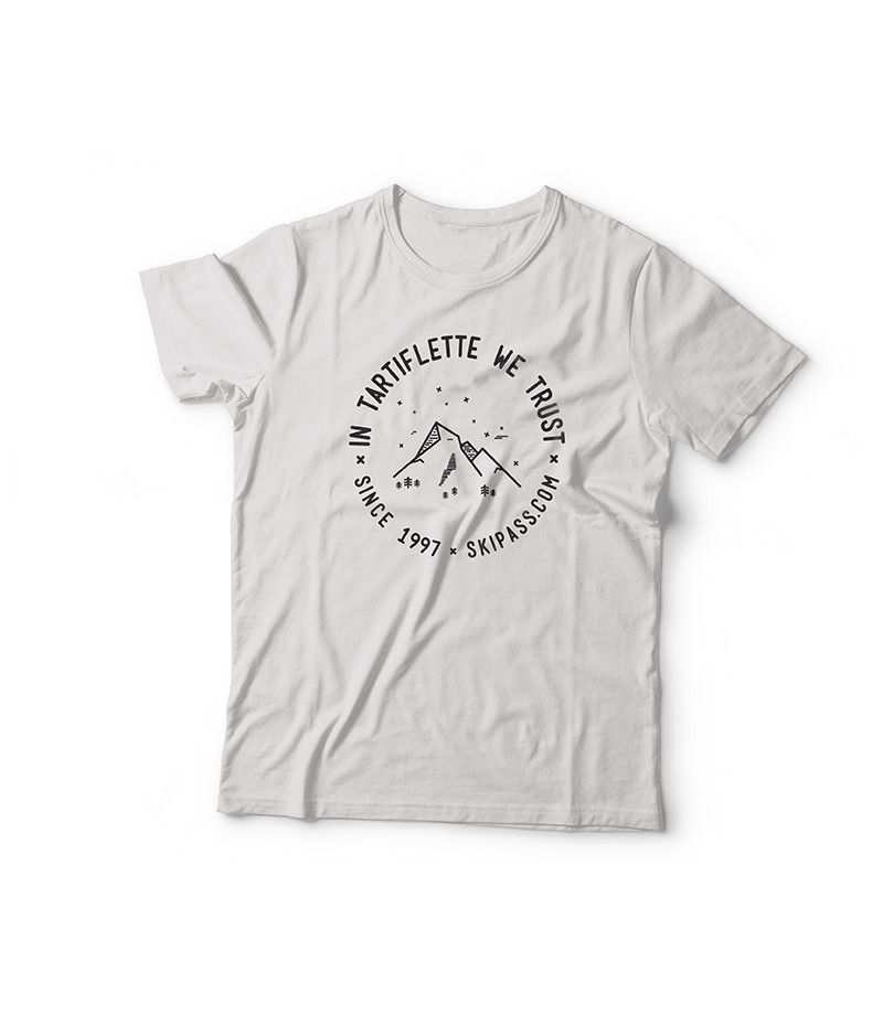 T-shirt In Tartiflette we trust vintage blanc