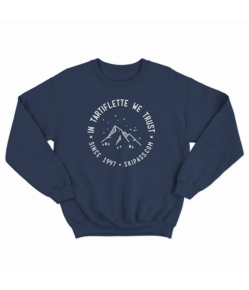 Sweat In Tartiflette We Trust vintage navy blue