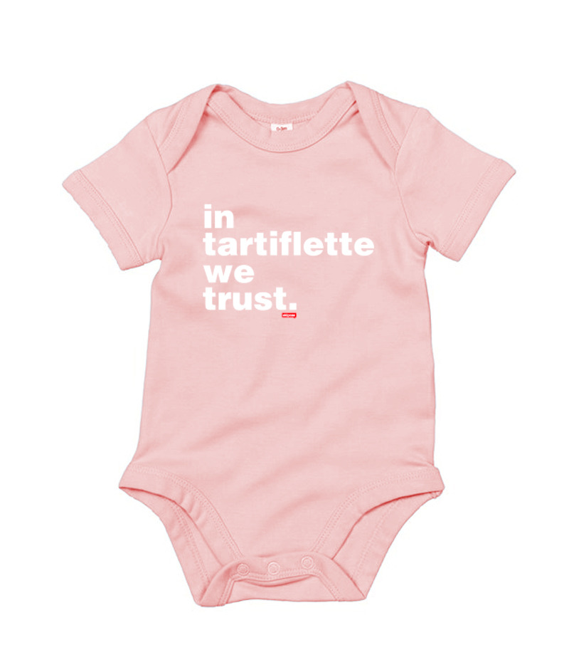 Body Bébé In Tartiflette We Trust rose
