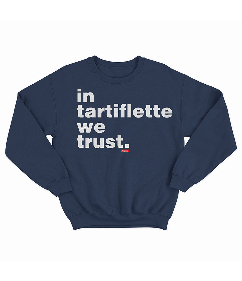 Sweat In Tartiflette We Trust navy