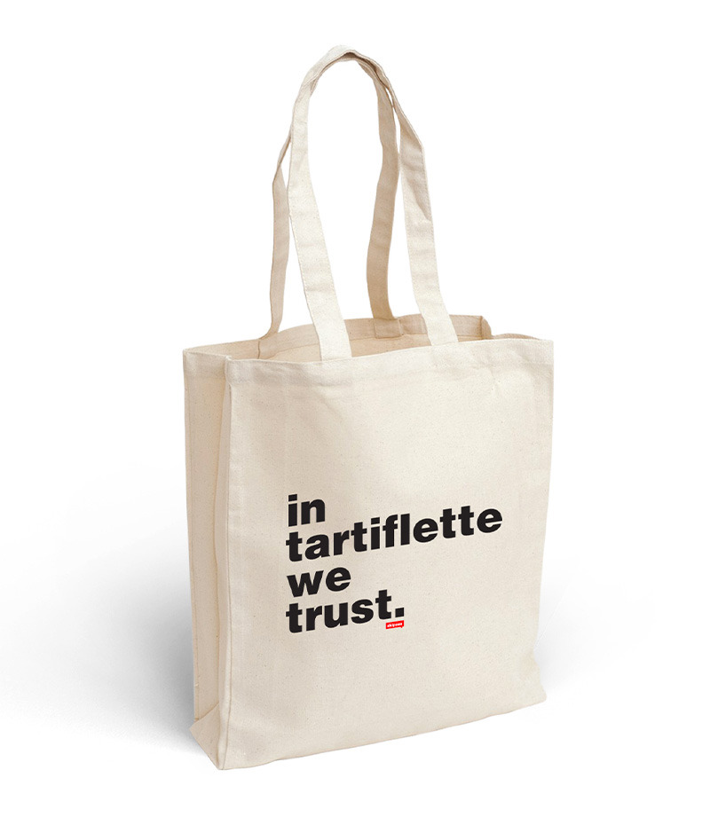 Tote bag In Tartiflette We Trust écru