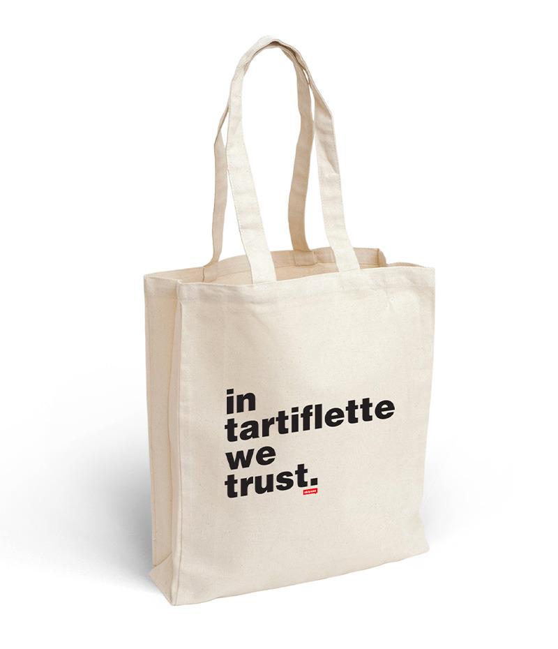 Tote bag In Tartiflette We Trust écru