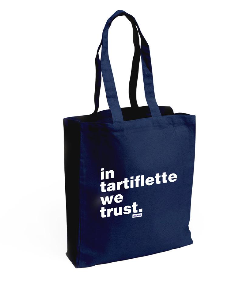 Tote bag In Tartiflette We Trust navy